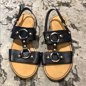 Jcrew Navy gladiator sling back sandals 8.5